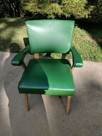 Mid-Century green slipper chair  Warrior, 35180