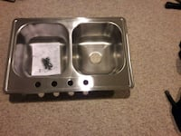 22x33 New Stainless Steel Double Basin sink