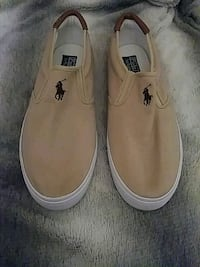 pair of brown suede boat shoes Mount Rainier, 20712