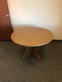 round brown wooden pedestal table Calgary, T3H