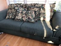 Black fabric 3-seat sofa 23 km