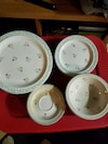 Full set of dishes for 8 place setting