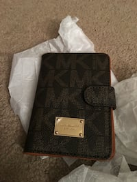 Michael kors black wallet passport holder