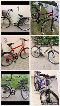 collage di mountain bike hardtail rosso e nero Codogno, 26845