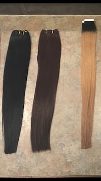 100% remy human hair extensions Red Deer