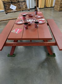 5ft 49ers picnic table