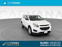 2016 Chevy *Chevrolet* *Equinox* LS Sport Utility 4D suv WHITE Downey