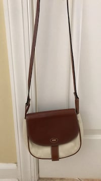 brown leather 2-way handbag Gaithersburg, 20879