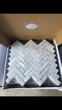 1x3 carrera polished marble mosaic Oakville