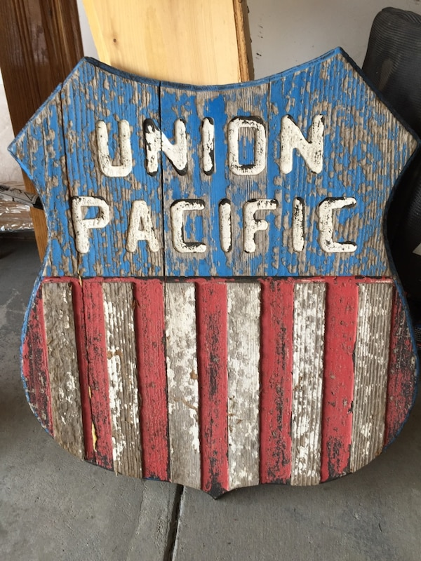 Union Pacific sign from 1944 rail yard council bluffs I
