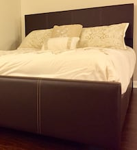 New Brown King Bed Silver Spring