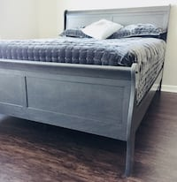 New Gray Queen Sleigh Bed  Silver Spring, 20902