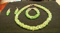 green and white beaded necklace Maple Ridge, V2X 9B5