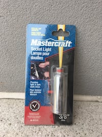 "Mastercraft socket light. 3/8""drive Hamilton, L9B 2P2"