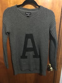 Knitted sweater letter A