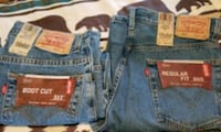 2 pair Levis bootcut 505 and 517jeans Amarillo, 79108