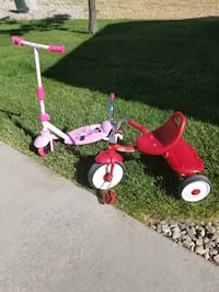 Radio Flyer Trike & Huffy Mini Mouse Scooter