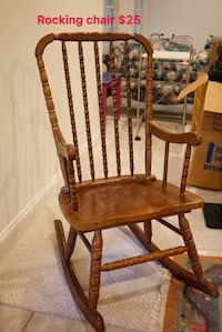 brown wooden windsor rocking chair Oakton, 22124