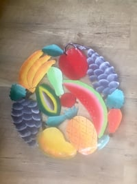 "Beautiful 13"" metal fruit platter. Burnaby, V5E"