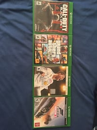 Three xbox one game cases Toronto, M9V 4A4