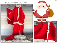 SANTA OUTFIT - with Wig, Beard, Hat, Gift Bag, Belt & Buckle for Boots Jarrettsville, 21084
