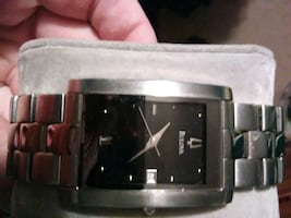 Bulova square face dress watch