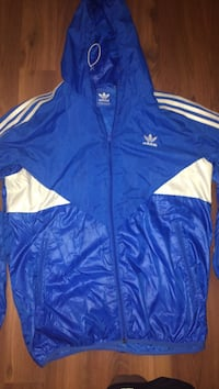white and blue Adidas track jacket Toronto, M3A