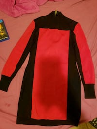black and red long-sleeved dress Orlando, 32825