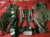 3 tacticle vest, bags harness, military issue watermule back pack. Portland, 97203