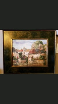 brown wooden framed painting of house Shafter, 93263