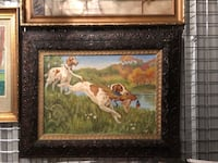 Dogs hunting oil painting  Toronto, M2R 3N1