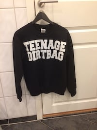 svart og hvit Teenage Dirtbag sweatshirt