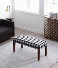 Upholstered Bench with Wood Legs 38 in W x 17 in D x 18 in H READ FULL Brampton, L6V 4K9
