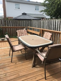 Patio table and chairs  Brampton, L6S 3R5