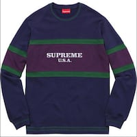 blue and green Adidas crew-neck sweater Kamloops, V1S 1X1