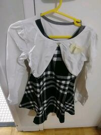 women's white and black blouse Toronto, M9R 4B4