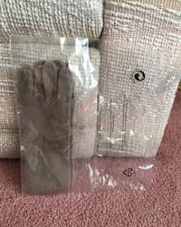Women's Gray-Brown Cashmere Gloves - New! Parma