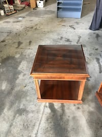 brown wooden framed glass top coffee table Brooksville, 34604