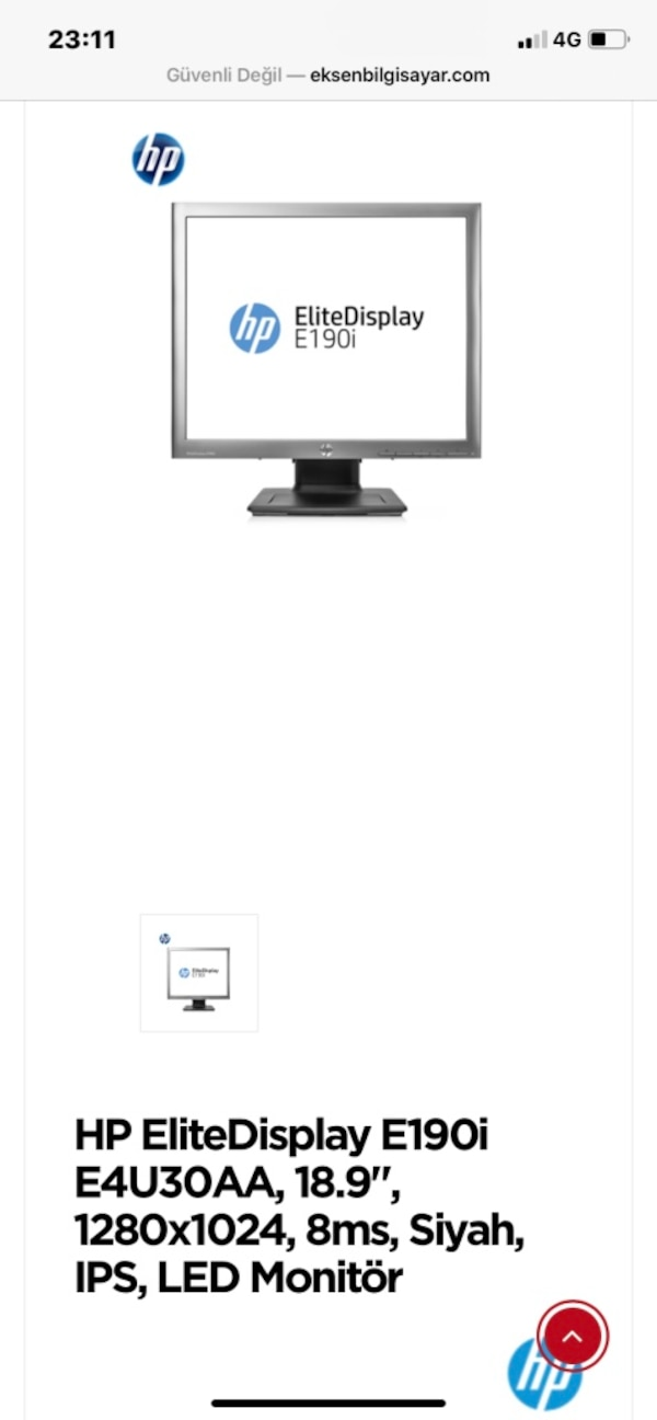 HP Led monitör 0