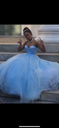 Blue Cinderella prom dress Garden City, 31408