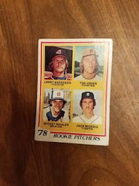 '78 Rookie Pitchers trading card