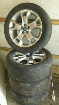 gray BMW 5-spoke vehicle wheel and tire set Calgary, T1Y 2T8