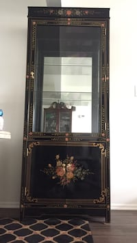 Black Chinese lacquer display cabinet Mount Olive, 07836