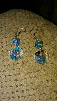 pair of blue-and-silver hook earrings Greeneville, 37743