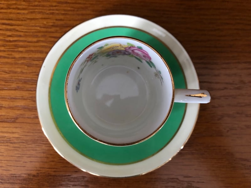 $10 for 2!! Gorgeous Vintage Bone China Espresso Cups and Saucers 576282b7-e7bf-48ff-9409-d1afc54e2dbf