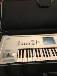 Gray Korg electronic keyboard