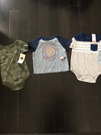 Brand new tags on Roots, Gap, George shirts size 6-12m