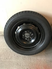 Winter tires- black bullet hole car wheel with tire