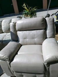 white and black leather sofa chair Antioch, 94509