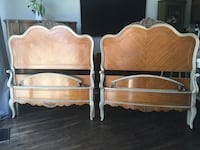 Delivery - heirloom quality pair of antique French twin beds Toronto, M9B 3C6